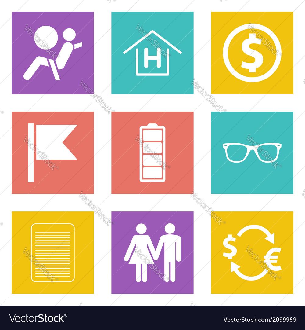 Color icons for web design set 47