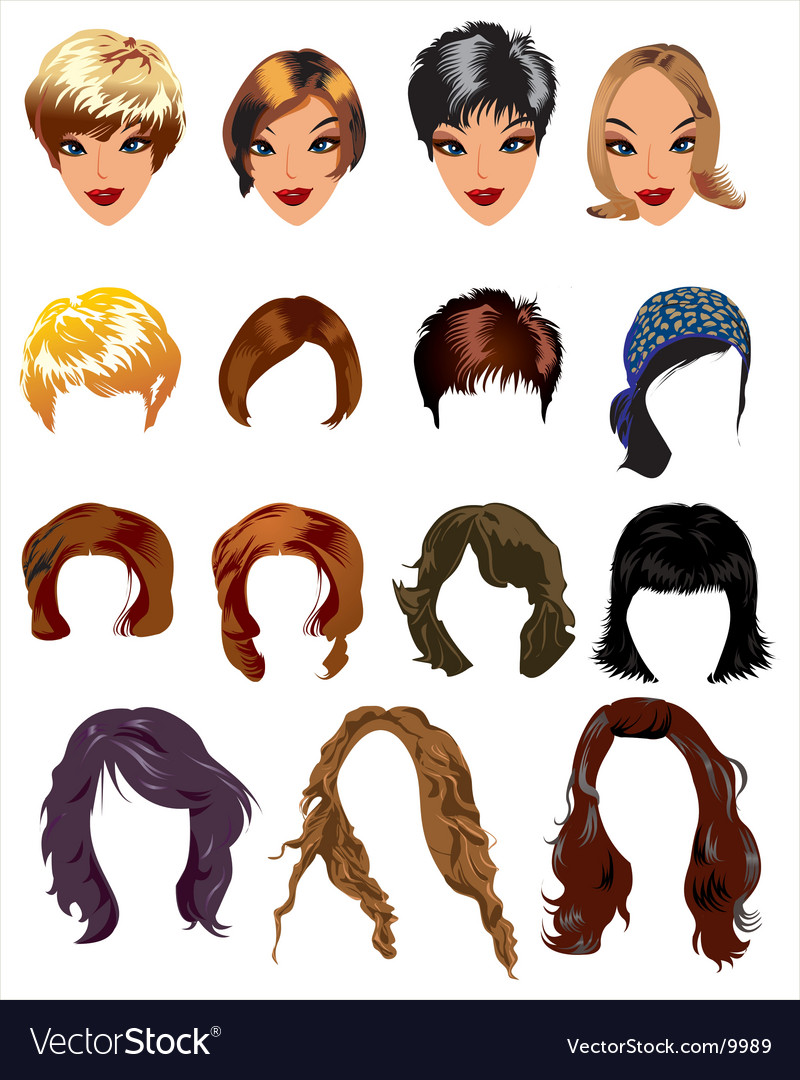 Fashion hair styles vector image
