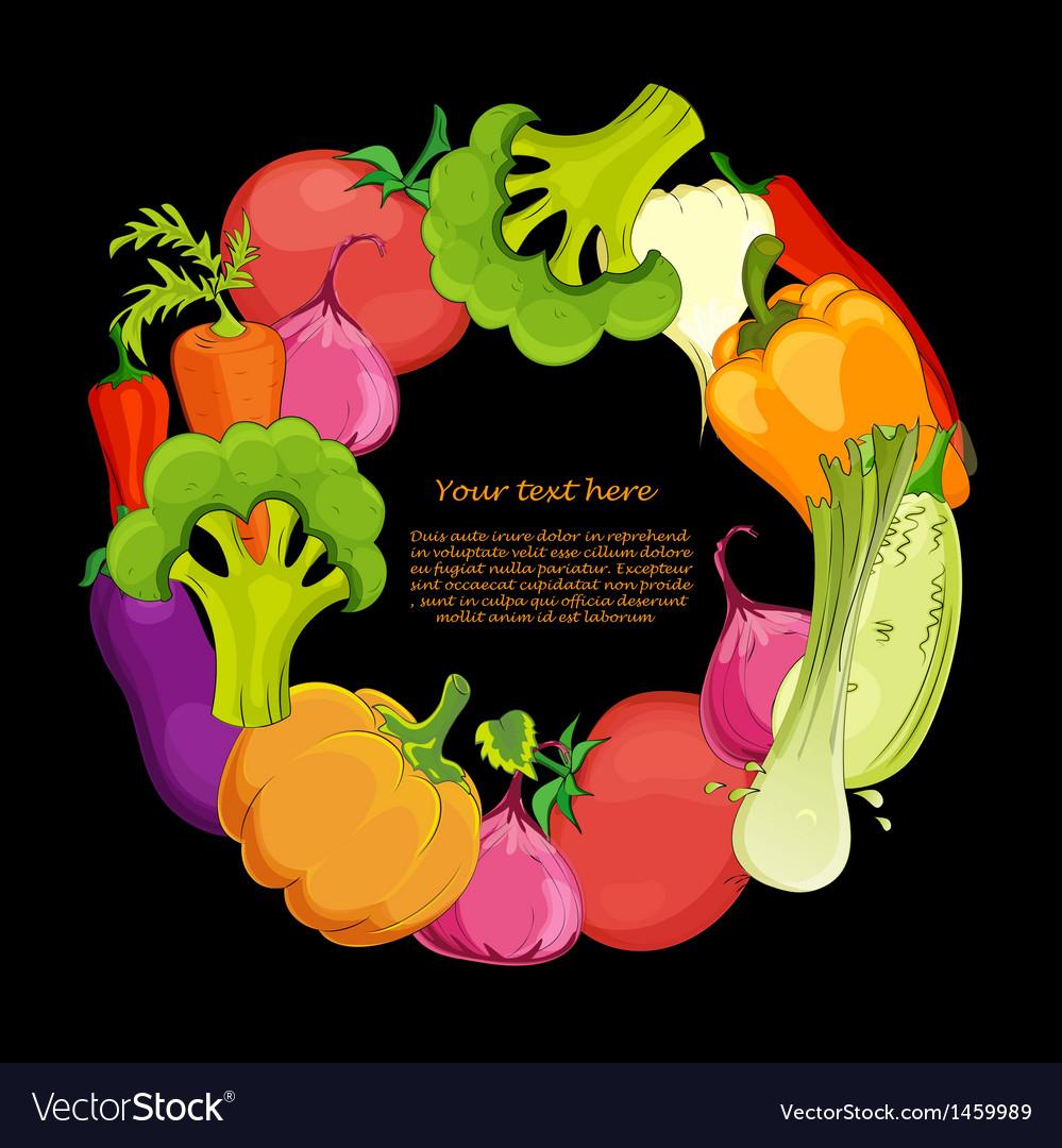 Food round background