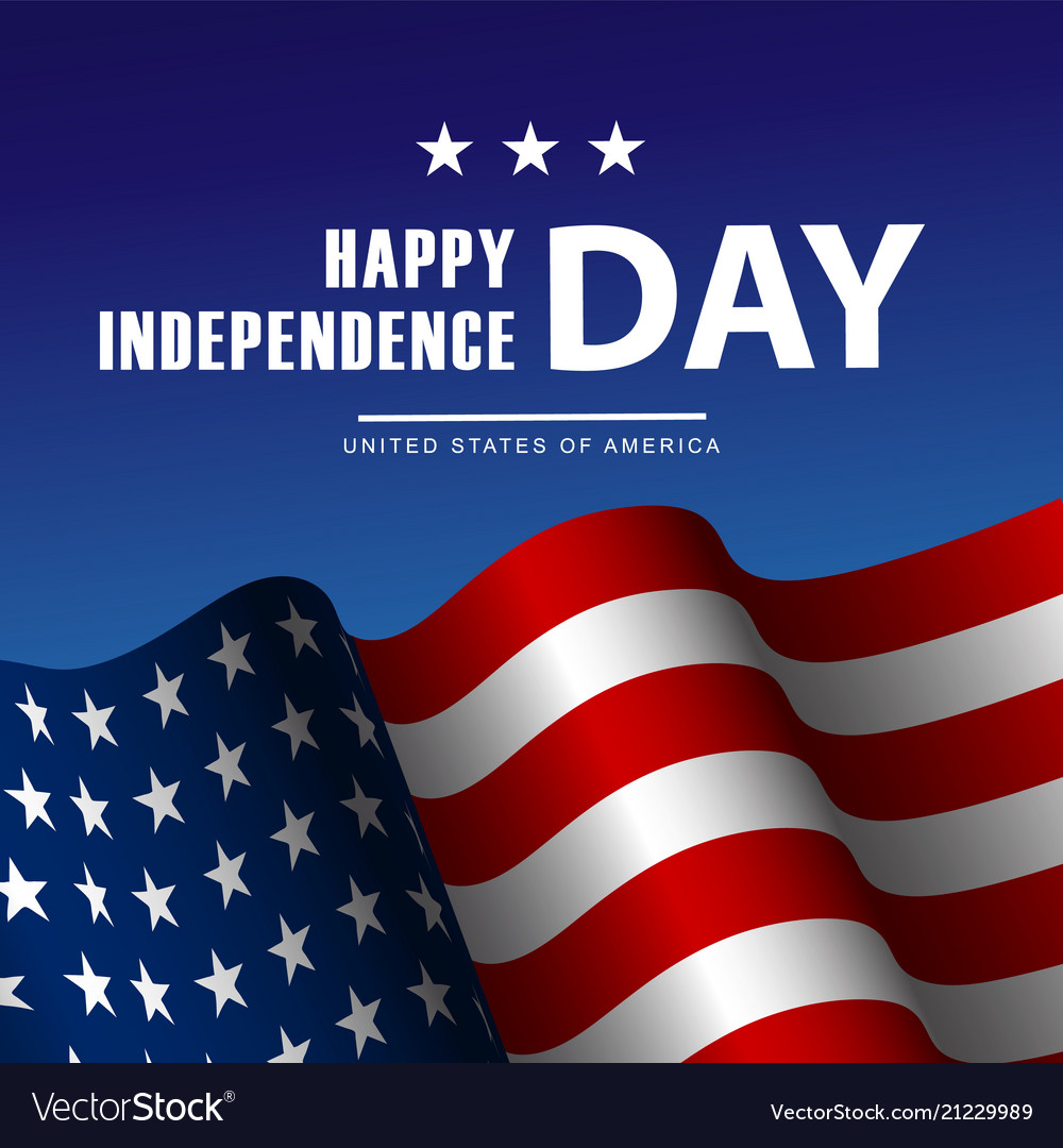 Fourth july independence day poster or card
