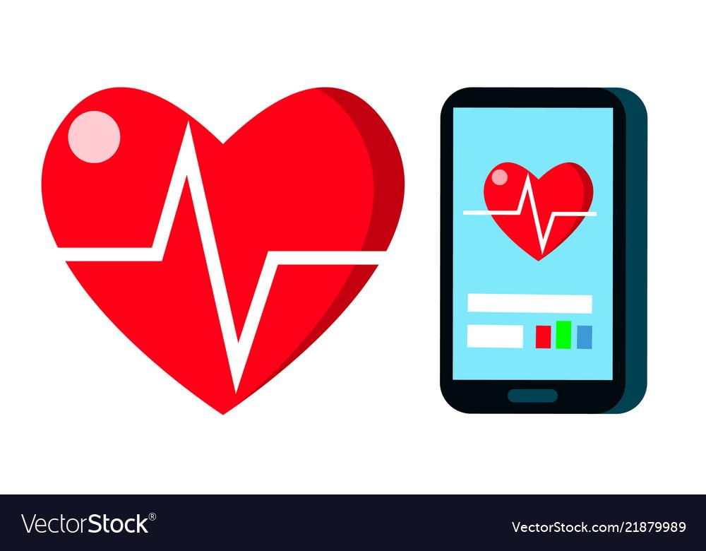 Heart beat rate pulse cardiogram heart