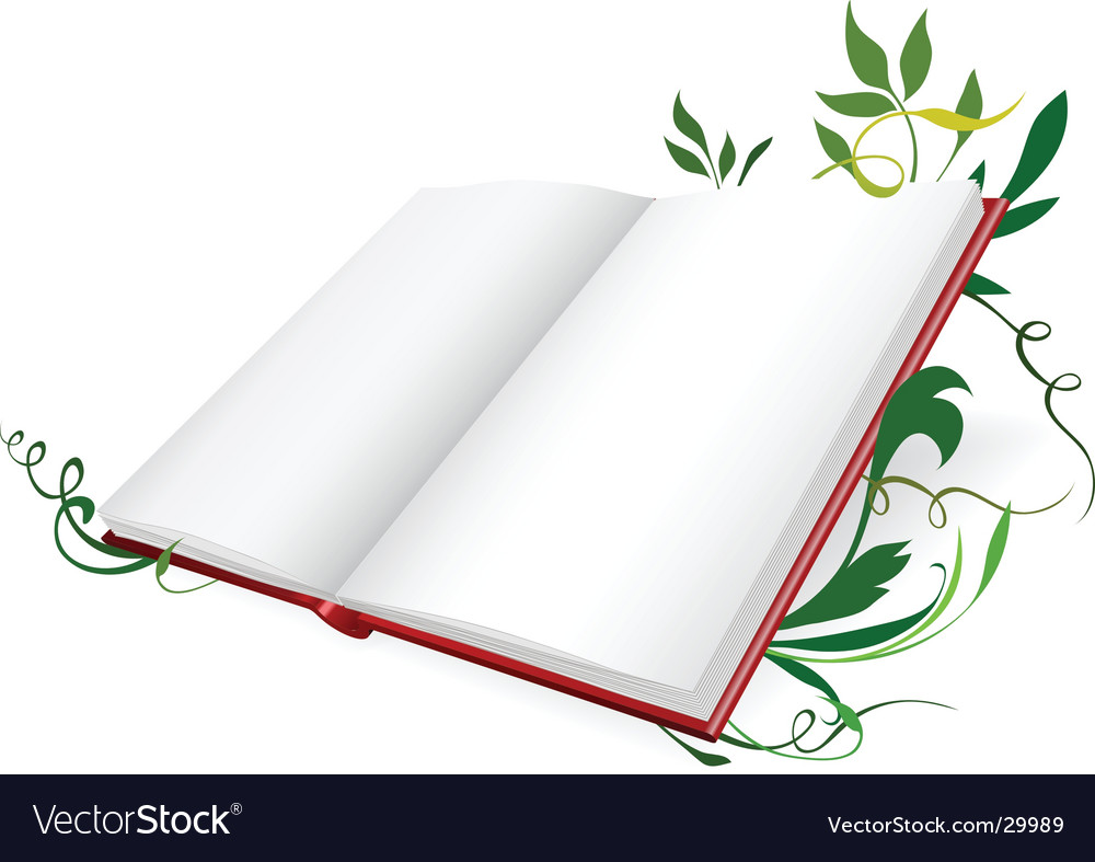 Opened diary vector image