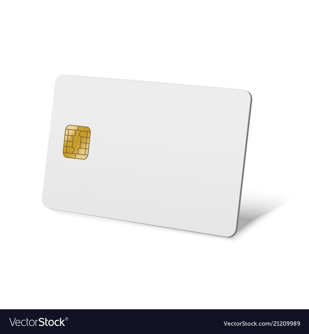 realistic detailed 3d blank plastic credit card vector image - Blank Plastic Cards