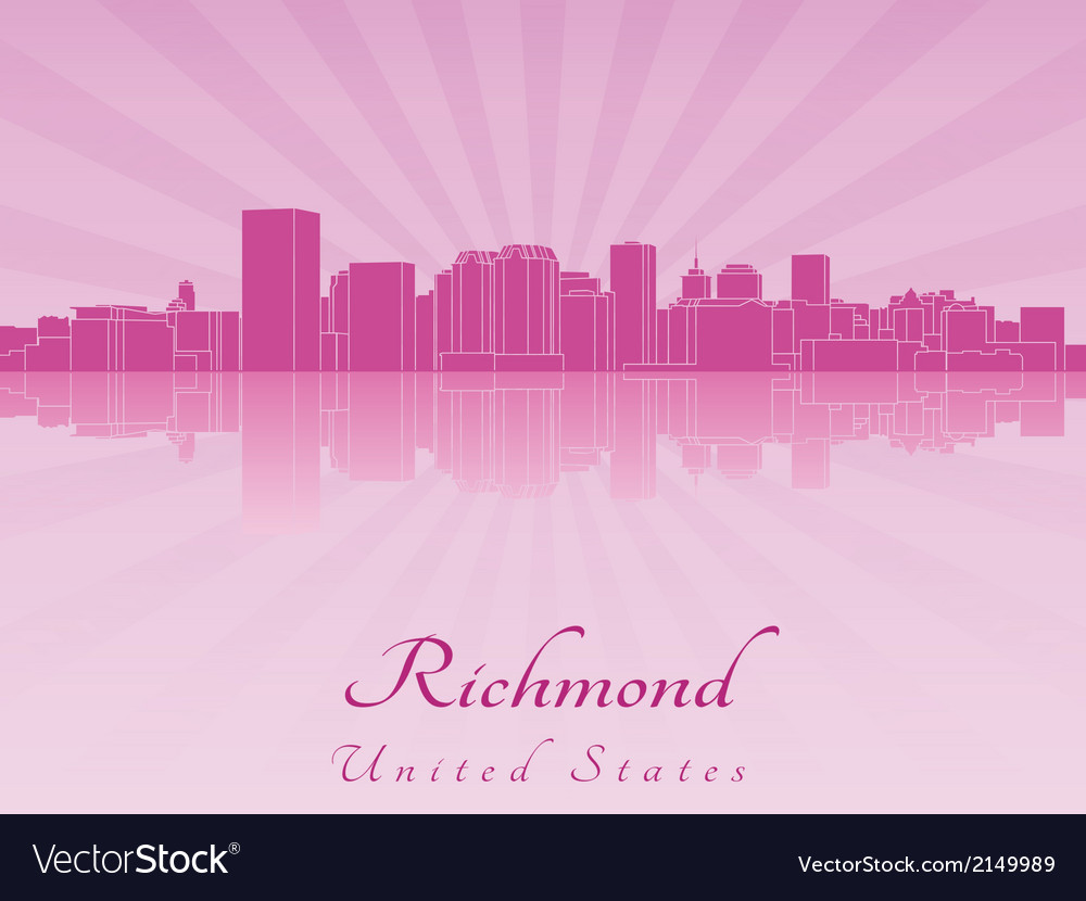 Richmond skyline in purple radiant orchid