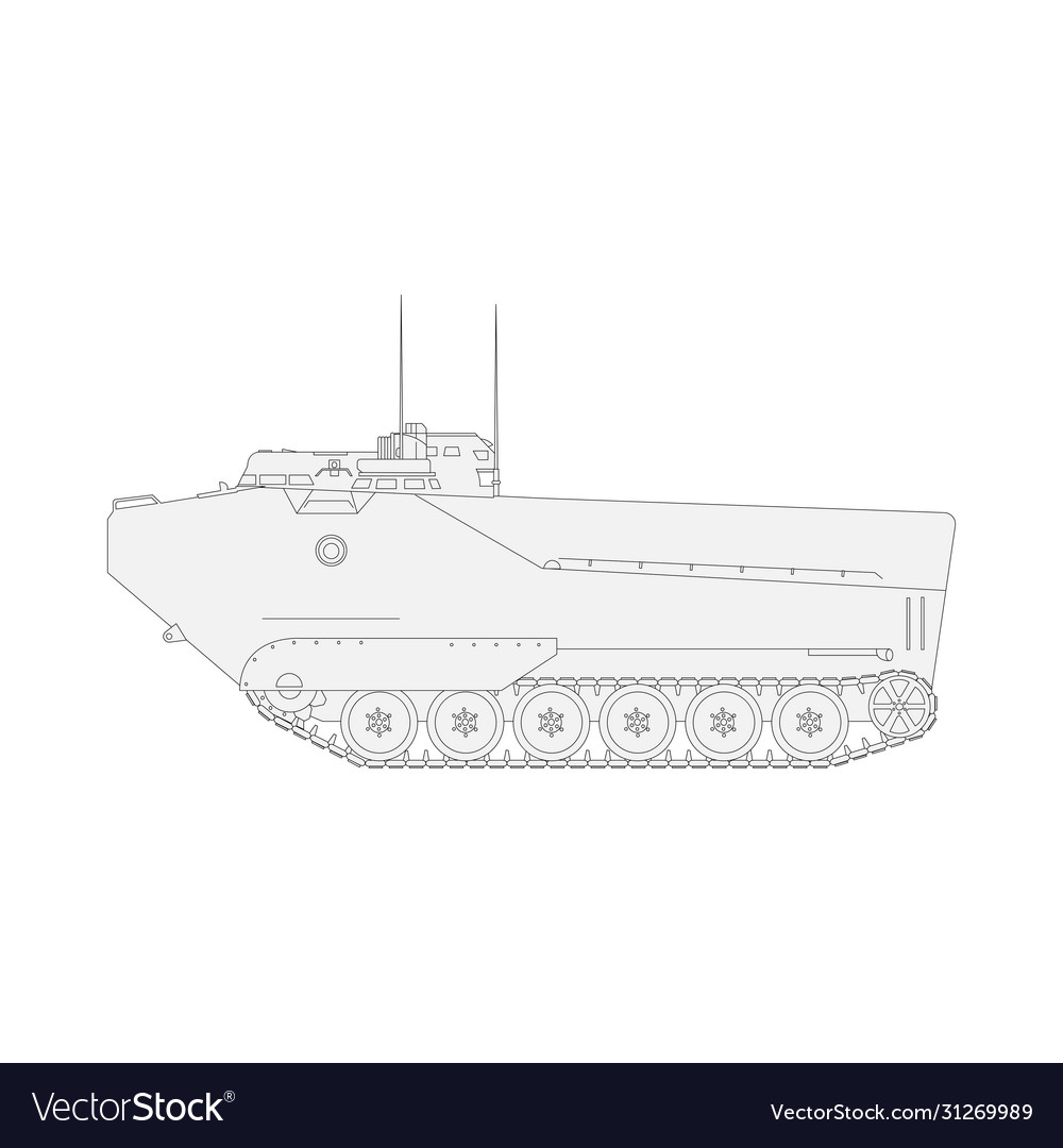 Tank isolated on white background military