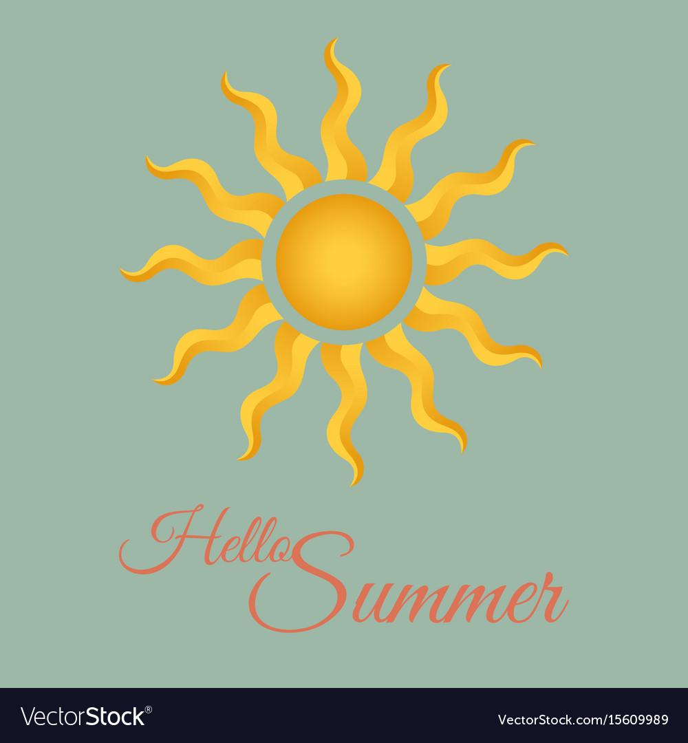 Vintage summer background