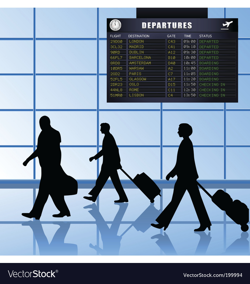 Airport set 1 passengers departing