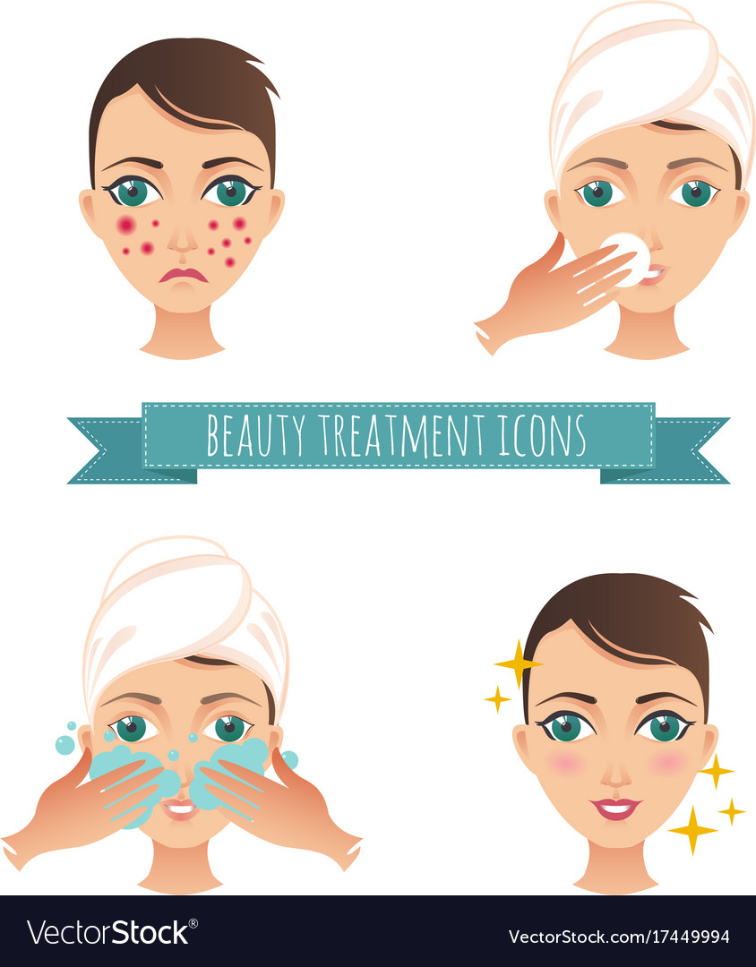 Beauty Care Acne Treatment Royalty Free Vector Image