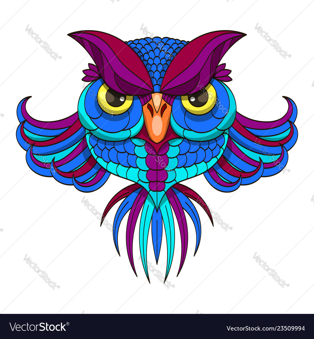 Colored owl