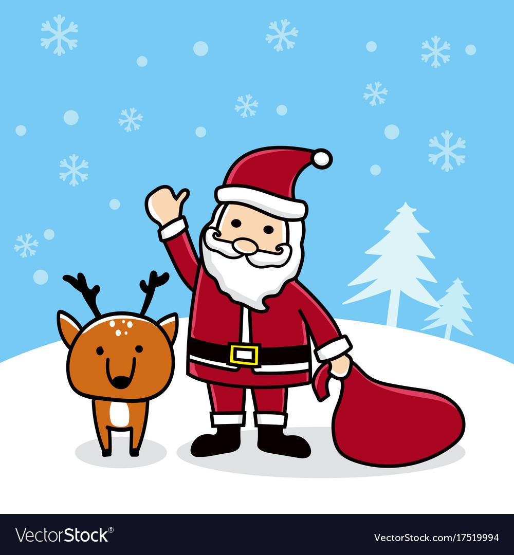reindeer merry christmas Vector Image