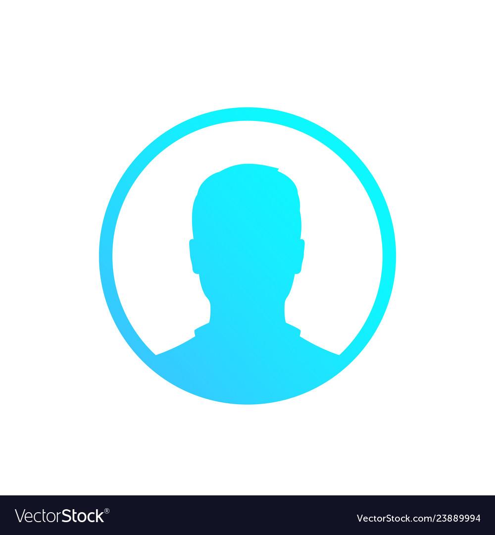 Default avatar placeholder profile icon male