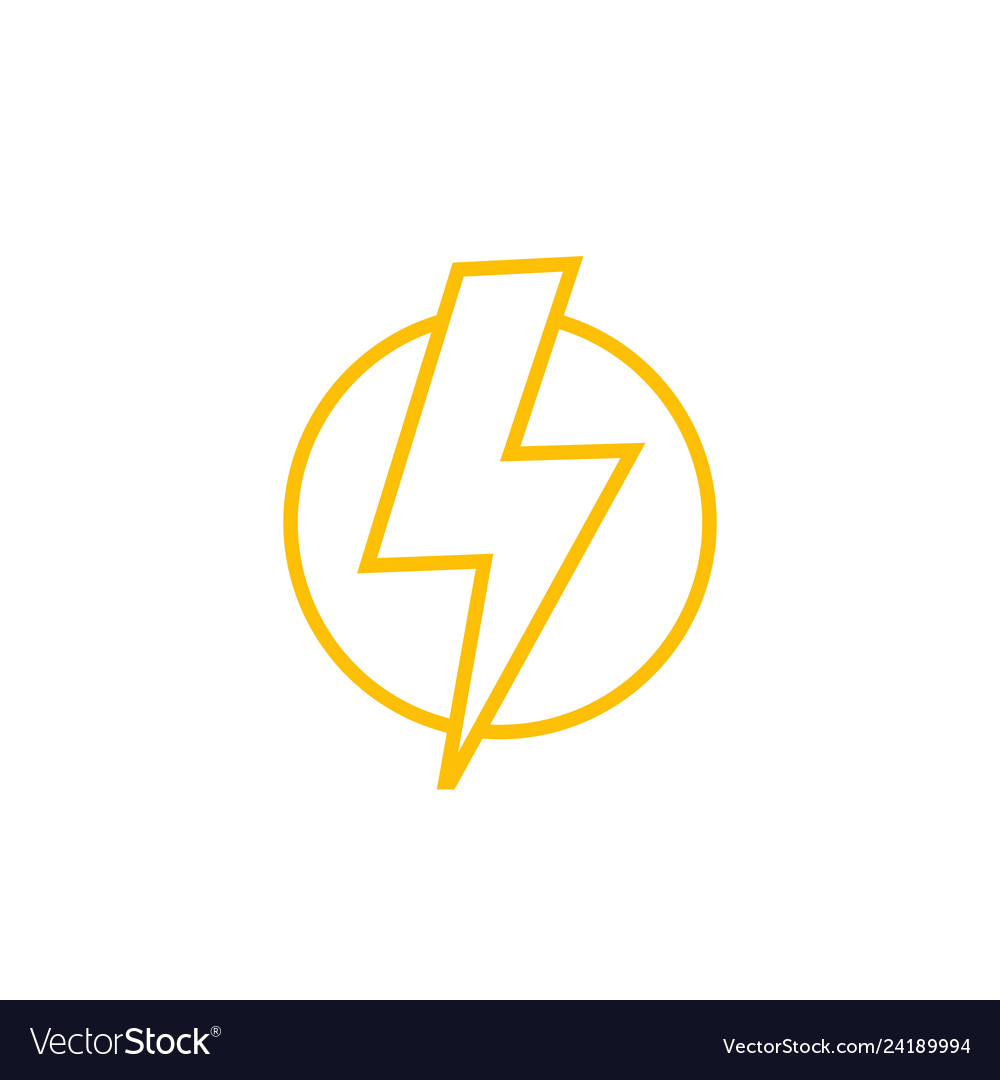 Lightning bolt line icon