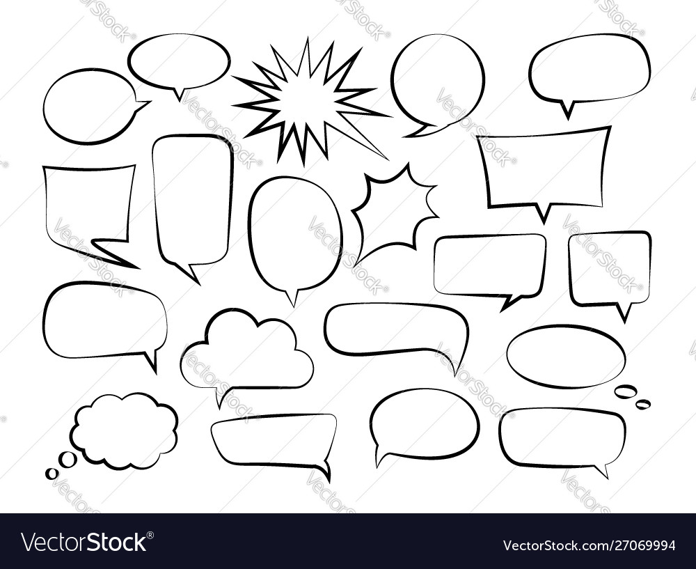 Outline speech bubbles-01
