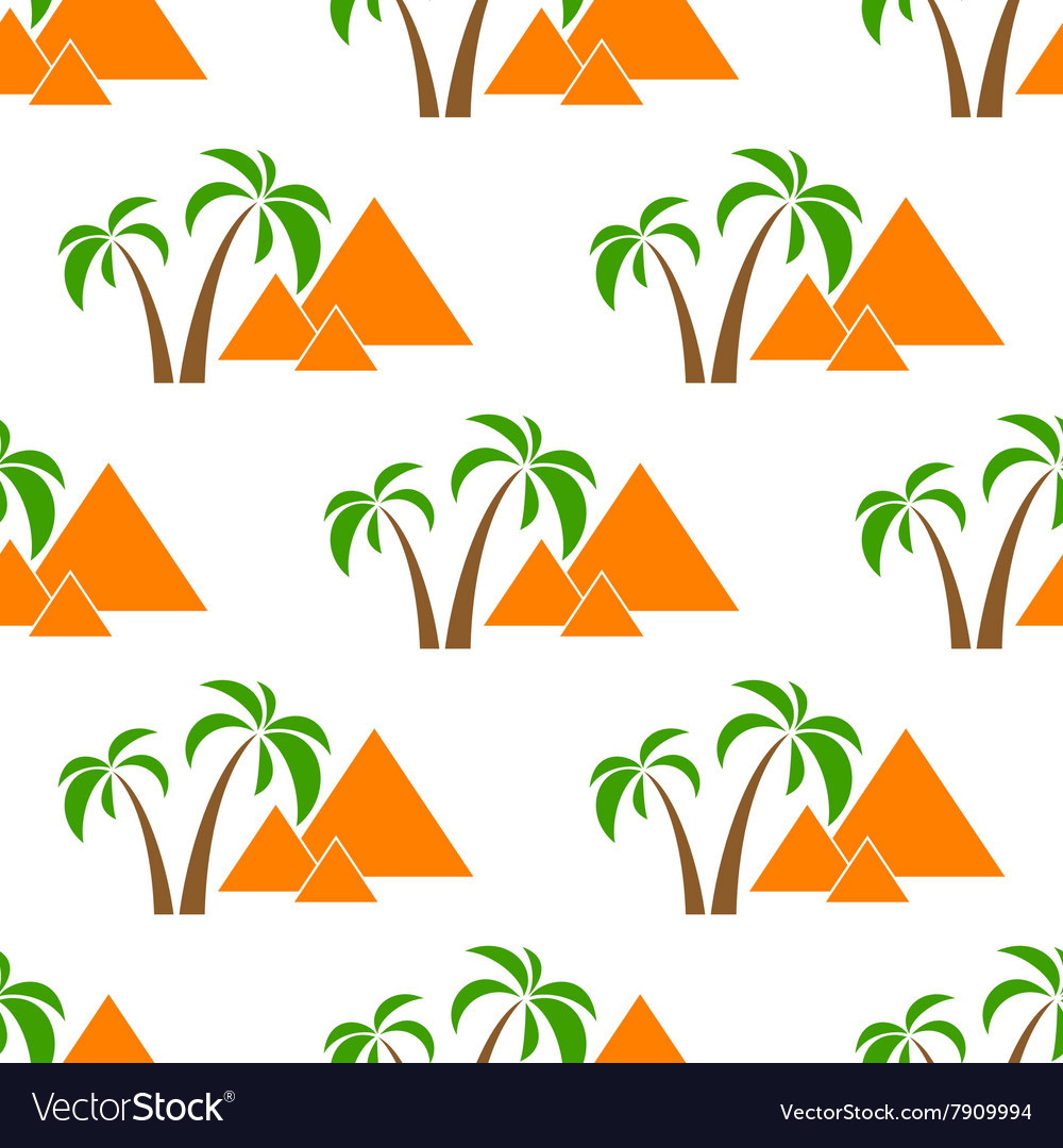 Pyramids seamless isolated vector image