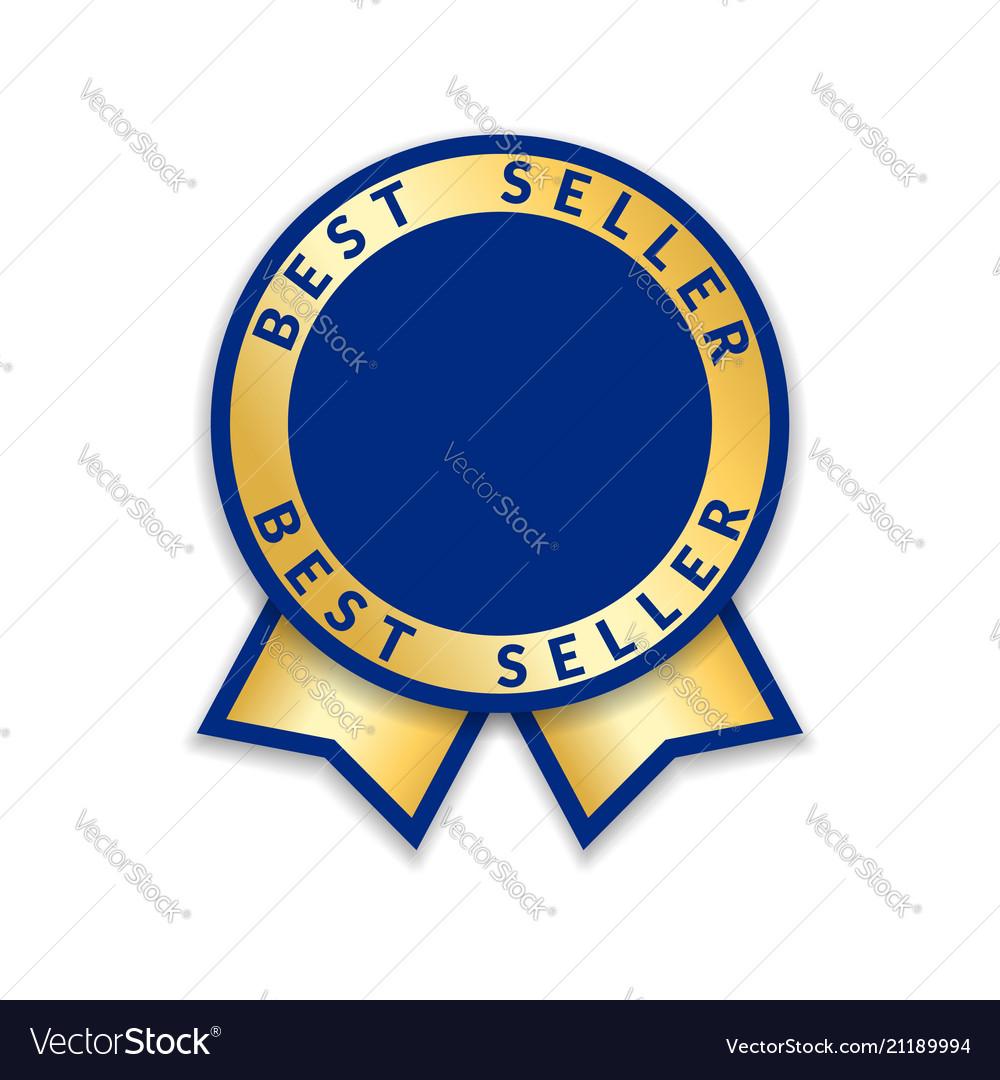 Ribbon award best seller gold ribbon award icon