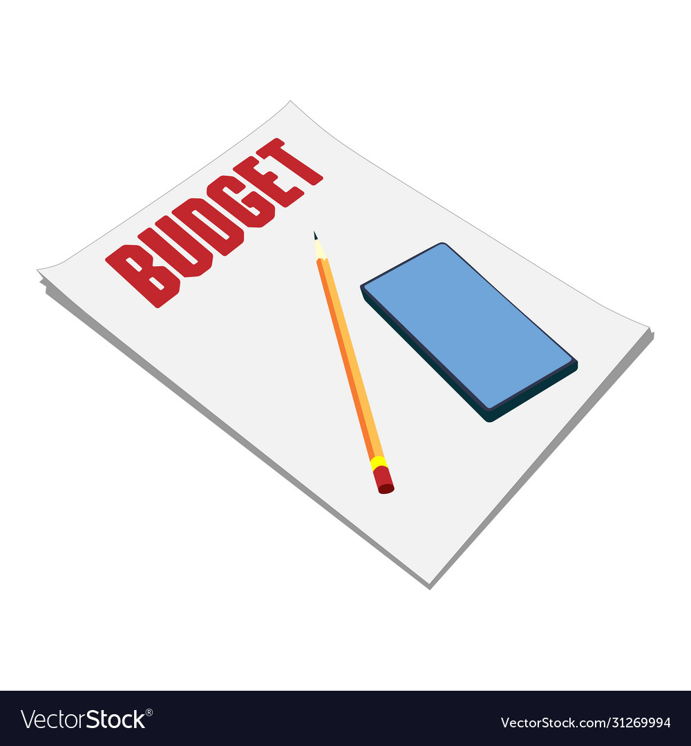Sheets paper budget plan pencil and