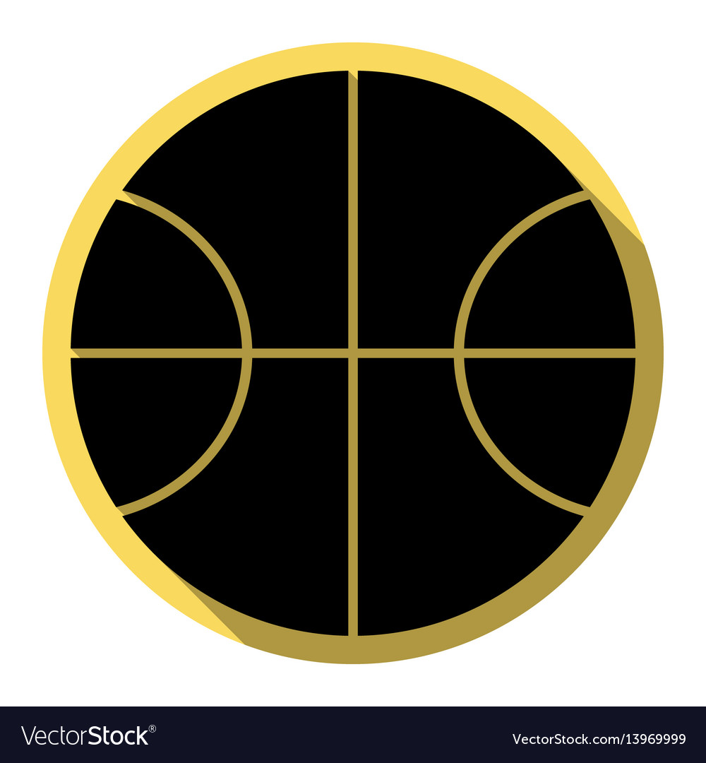 Basketball ball sign flat