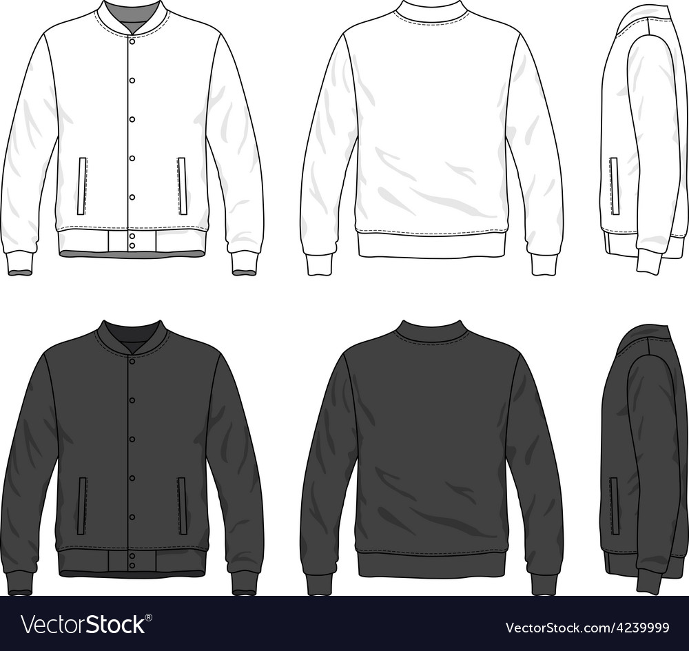 Bomber Jacket Royalty Free Vector Image Vectorstock