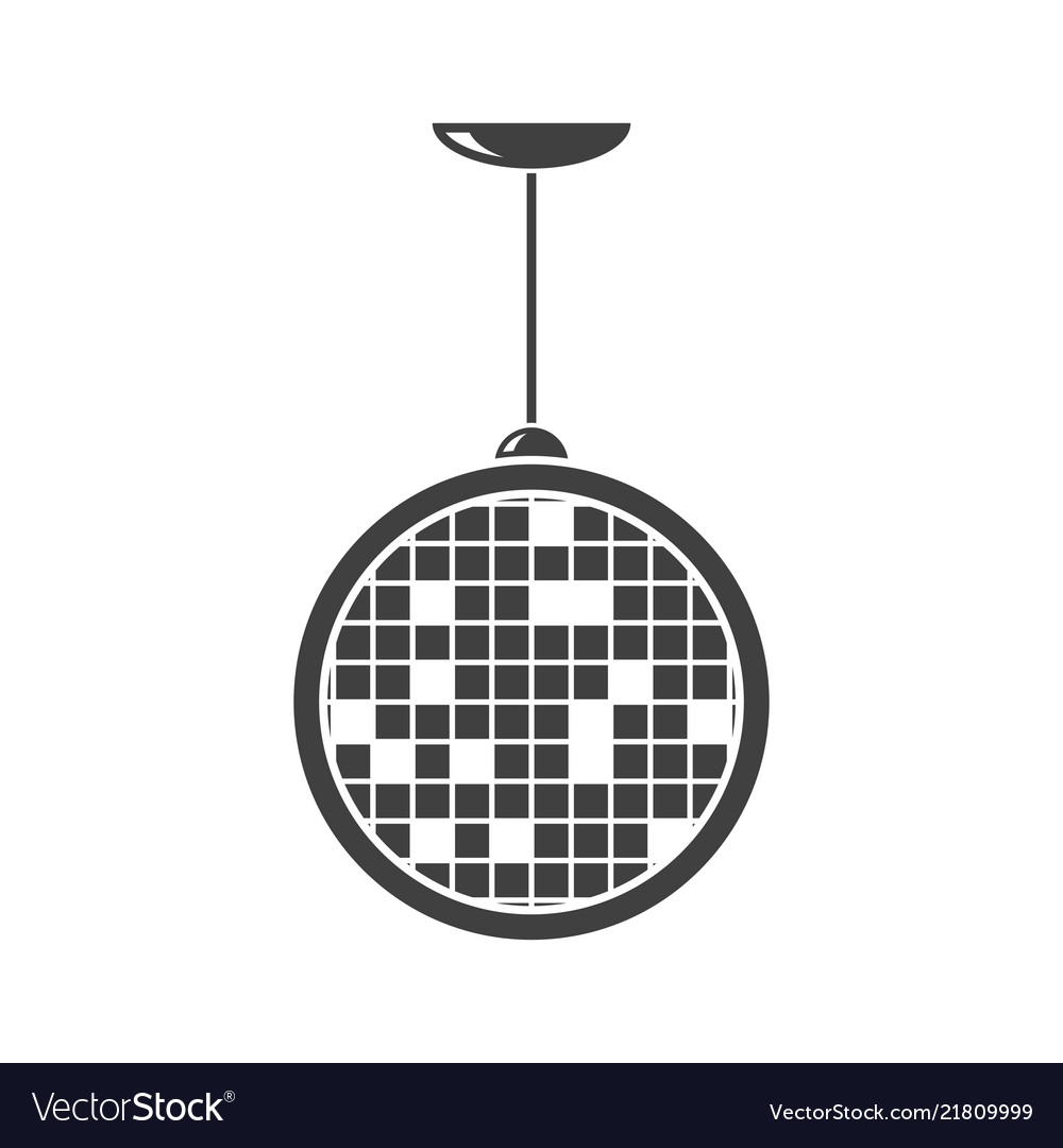Disco ball icon on white background