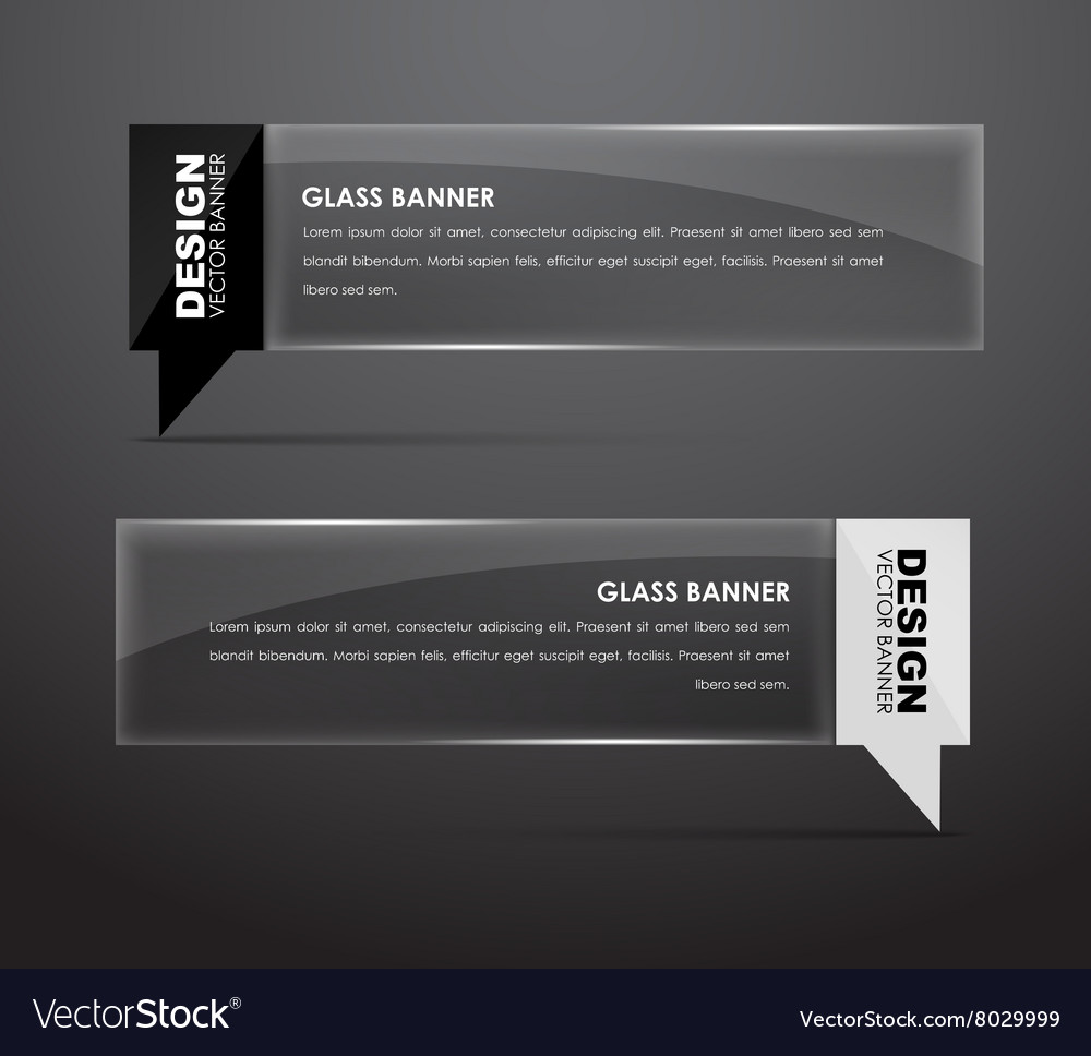 Glass banners with quote bubble