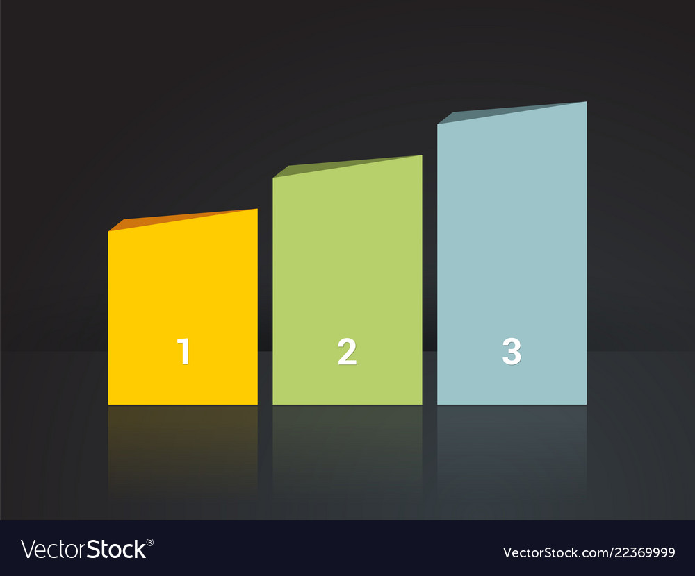 Simplier three-column chart in pastel colors on a