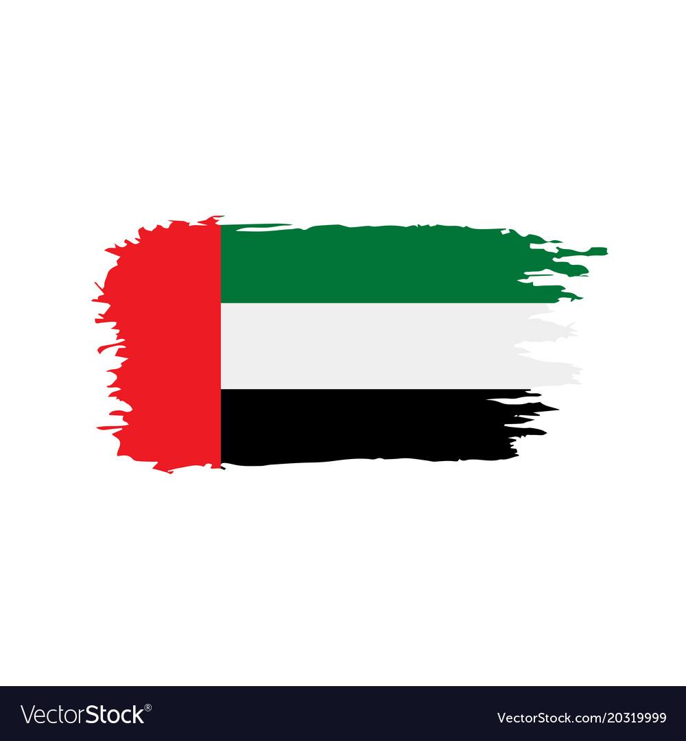united arab emirates flag royalty free vector image