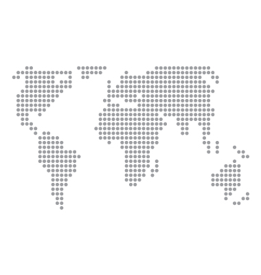 World Map Basic Dots Vector. Artist: Robot; File type: Vector EPS