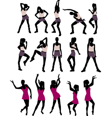 Silhouettes Of Women. Sport Silhouettes Of Women