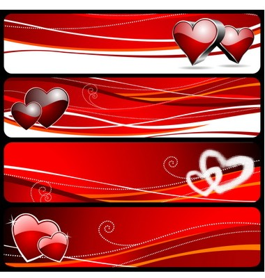 Valentine's Day Banner Vector. Artist: articular; File type: Vector EPS