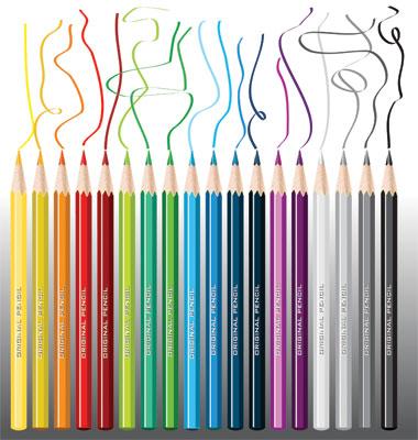 shading crayon pencels