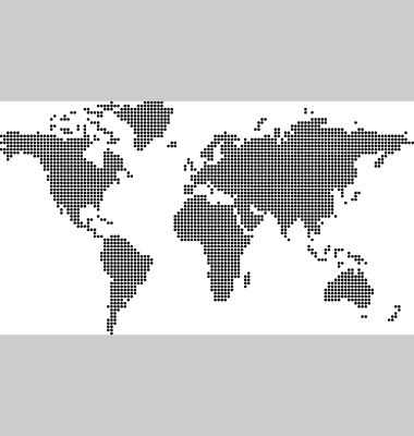 World Map Dot Vector. Artist: joingate; File type: Vector EPS