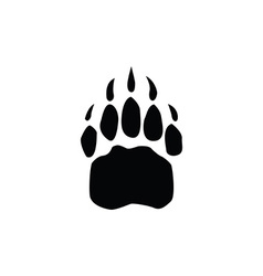 Bear footprint vector