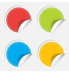 Colorful four blank stickers set Badge collection vector image vector image
