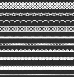 Decorative Lace Borders vector image vector image