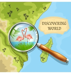 Discovering world background vector