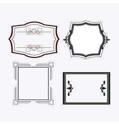 Frame design Ornament icon Flat vector image vector image