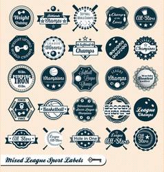 Mixed Sport Labels vector image