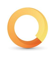 Orange tape round form vector image