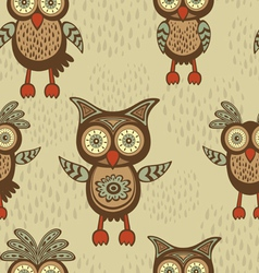 Owls pattern vector image