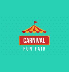 carnival fun fair theme design vector image vector image