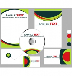 corporate stationery vector image