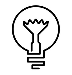 light bulb icon outline style vector image
