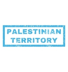 Palestinian territory rubber stamp vector
