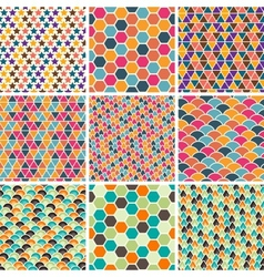 Retro Geometric Patterns vector image vector image