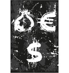 Bag dollar euro vector image