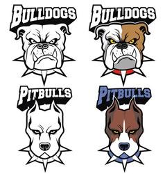 dogs mascot set vector image