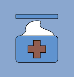 Flat icon design collection medical napkins vector