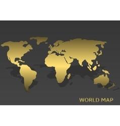 Golden World map vector image