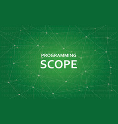 programming scope concept white text vector image vector image