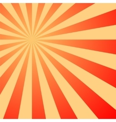 Sun rays sunburst on red color background vector image